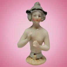Antique All Bisque German Half Doll