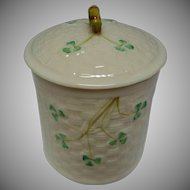 Vintage Belleek Covered Jar