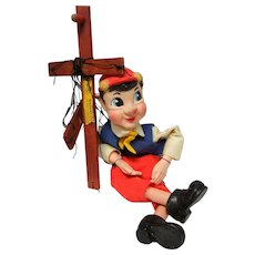 Vintage Pinocchio Marionette by Hazelle's - Red Tag Sale Item