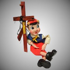 Vintage Pinocchio Marionette by Hazelle's