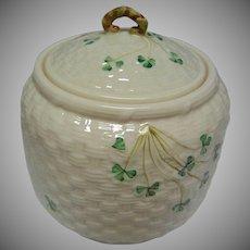 Vintage Irish Belleek Biscuit Jar