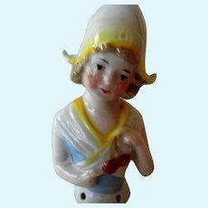 Antique German Child Half Doll
