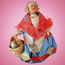 "Vintage ""Magis Roma"" Felt and Cloth Doll"