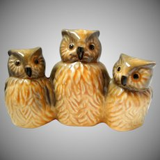 Vintage Goebel Porcelain Owls