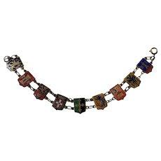 Vintage German Enameled Charm Bracelet