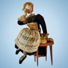 Vintage Cloth and Wire Caricature Doll