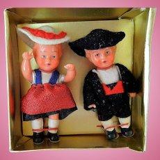 Vintage Set of German Doll House Dolls