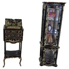 Vintage Bespaq Ebony Standing Desk and China