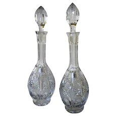 Antique American Brilliant Cut Glass Decanters