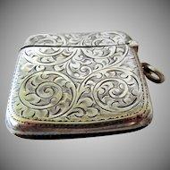 Antique Sterling Silver Match Safe