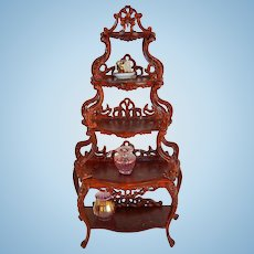 Vintage Doll House Wooden Etagere