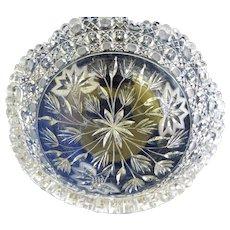 "Vintage American Brilliant Cut Glass 8 "" Bowl"