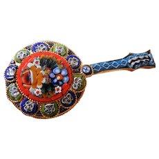Vintage Italian Micro Mosaic Banjo Brooch