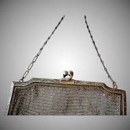 Antique Sterling Silver Mesh Handbag