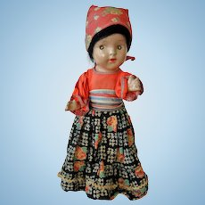 Vintage Composition Doll with Original Outfit.