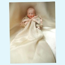 Vintage All Bisque German Character Baby Doll