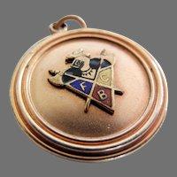 Vintage Enameled Knights of Pythias Watch Fob