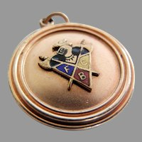 Vintage Enameled Knights of Pythias Watch Fob