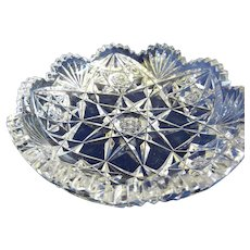 """American Brilliant Cut Glass 5"""" Bowl, Sinclaire - Red Tag Sale Item"""