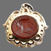 Vintage Carved Carnelian Intaglio Watch Fob