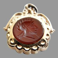 Vintage Carved Carnelian Intaglio Watch Fob