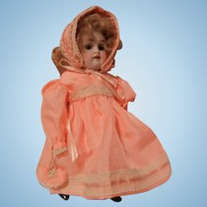"Antique 7.5"" German All Bisque Doll"