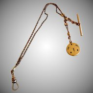Antique Watch Chain and Locket Fob