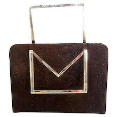 Vintage Brown Suede Handbag