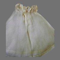 Antique Cotton Batiste Bisque Head Doll Dress