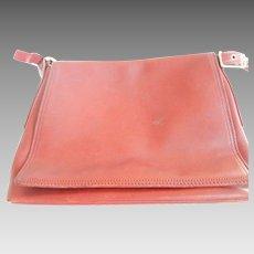 "Vintage Red Leather ""Coach"" Handbag"