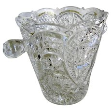 American Pressed and Cut Glass Ice Bucket