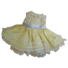 "Vintage 8"" Madame Alexander Yellow Satin Dress"