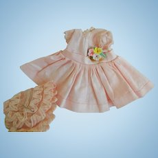 "Pink Cotton 8"" ""Ginny Dress and Hat"