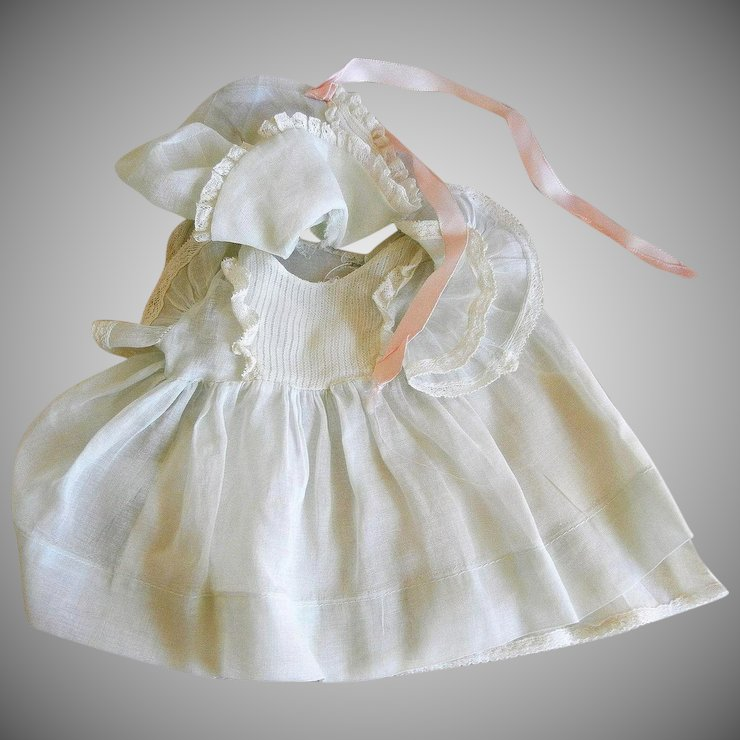 Vintage Cotton Batiste Dress, Bonnet and Chemise : Eleanor\'s Legacy ...