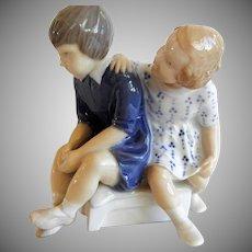 Vintage Bing and Grondahl Porcelain Children Figurine