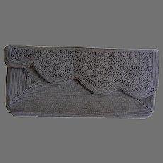 Vintage Brown Corde Clutch Bag