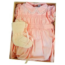 Vintage Sax 5th Ave Baby Outfit with Booties