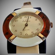Vintage Early Plastic and Lucite Swiss Wrist Watch