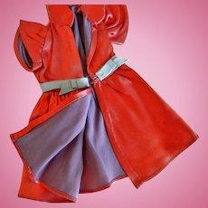 "Vintage Satin 7.5"" Doll Dress"