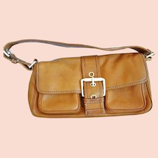 0a2d7ab5c36f Equestrian Spanish Designer Coated Canvas and Camel Leather Trim ...
