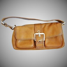 "Lovely Camel Colored Leather ""Michael Kors"" Handbag"