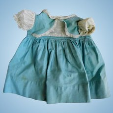 Vintage Cotton Baby Doll Dress for Large Tiny Tears or Dydee