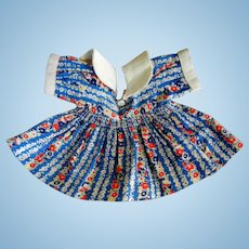 Vintage Cotton Print Dress for Compo Doll