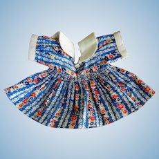 Vintage Cotton Print Dress for Compo Doll