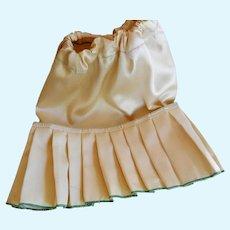 Vintage Hand Made Pleated Satin Underskirt