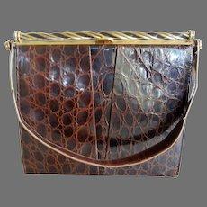 Vintage Alligator Handbag German
