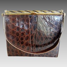 Vintage Brown Colored Plasti-Square Purse from the 1930 s   Beca s ... 2911df2af540a