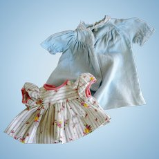 Vintage Cotton Doll Dress and Nightie