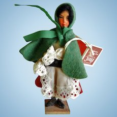 Vintage Felt and Paper Mache Irish Doll