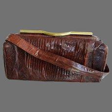 Vintage Reptile Skin Handbag
